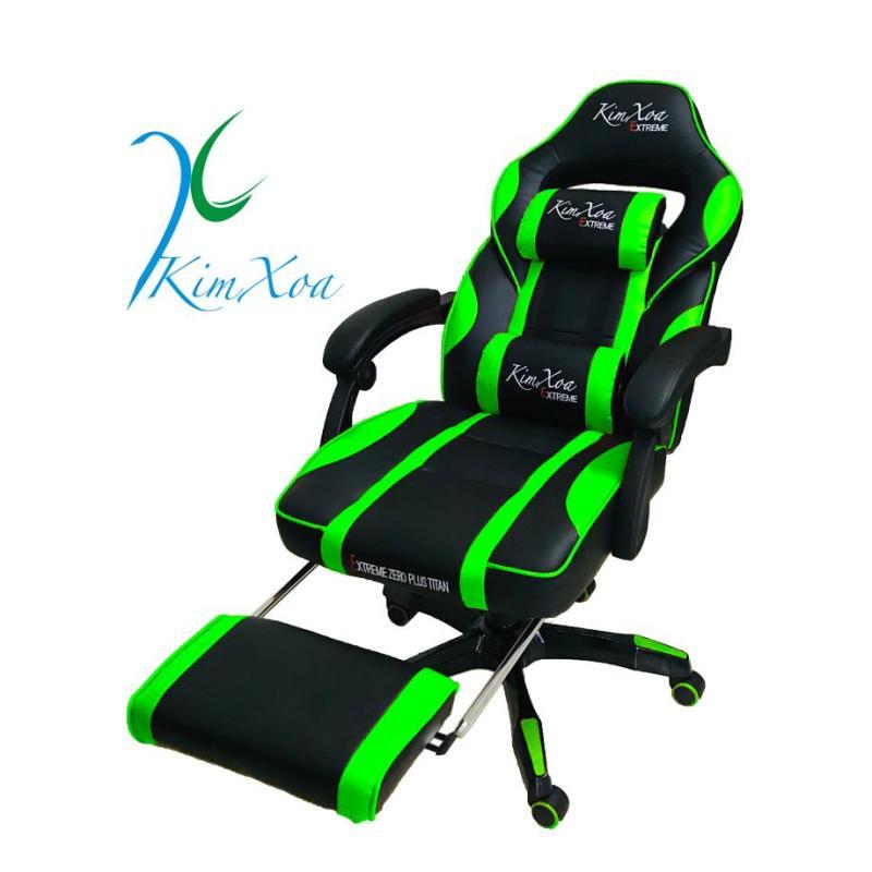 (Dành cho Streamer nữ) Ghế Chơi Game Live Stream Kimxoa Extreme Zero Plus Titan Gaming Chân Xoay Ngã Lưng 2 Gối Tựa Điều Chỉnh Cao Thấp Emvina Vietnam giá rẻ