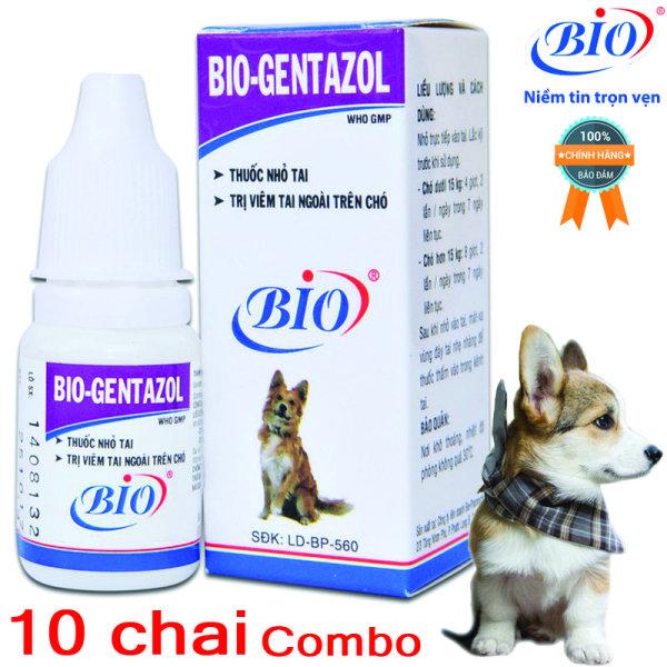 Combo 10 chai thuốc nhỏ tai Bio Gentazol 10ml chuyên viêm tai chó mèo- 79204