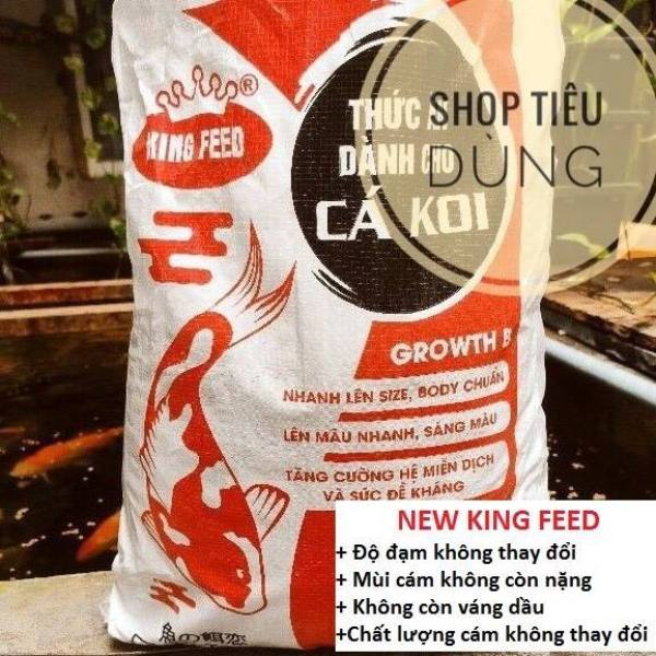 5KG Cám cá Koi tăng trưởng King Feed NEW (42%Đạm) 5kg