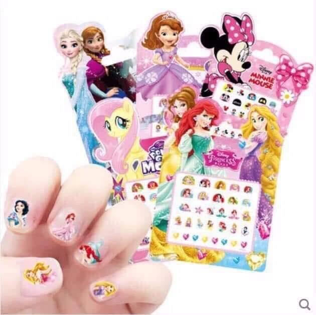Combo 5 miếng dán Nail sticker miếng dán móng tay hình công chúa Elsa , Anna Frozen siêu xinh cho bé gái trẻ em - 7FZ028 tốt nhất