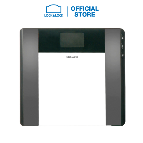 Cân sức khỏe điện tử đo chỉ số cơ thể Lock&Lock dùng trong gia đình ENC516BLK - 180kg - Màu đen nhập khẩu