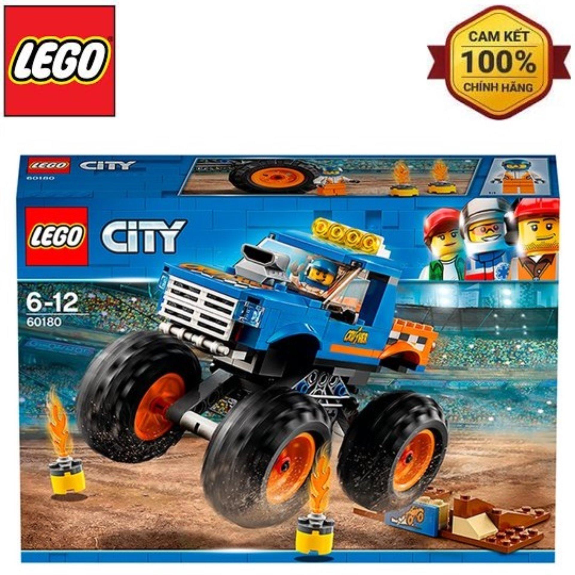 Mô Hình Lắp Ráp Lego City Xe Tải Quái Vật 60180 Giảm Giá Khủng