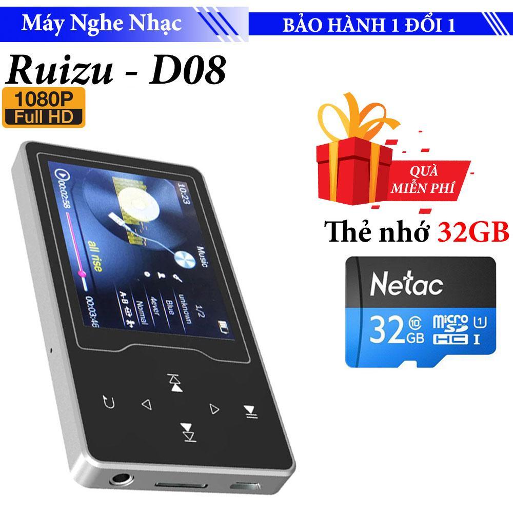 Máy nghe nhạc MP4 màn hình HD 2.4 inches Ruizu D08  Máy nghe nhạc Lossless chất lượng cao - máy nghe nhạc giá rẻ Tặng Kèm Thẻ 32GB
