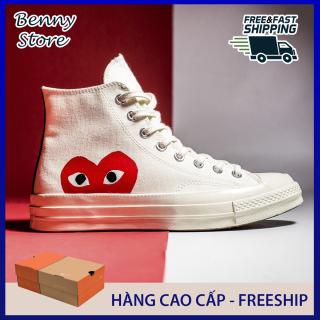 Giày Converse Chuck Play Heart Trái tim Màu Trắng - Hàng Cao Cấp thumbnail