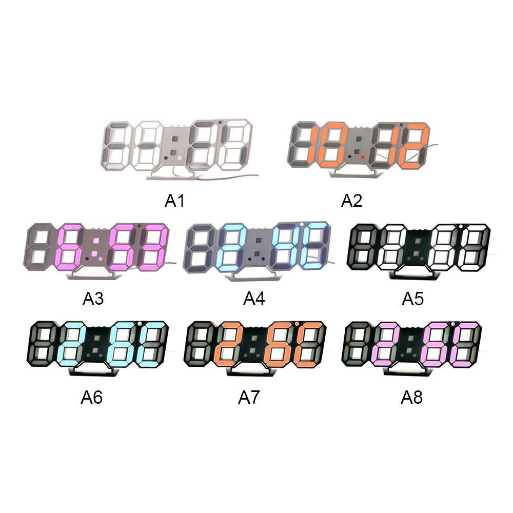 Đồng hồ LED 3D treo tường, để bàn cao cấp (Led trắng), Giá rẻ hơn Đồng hồ nam dây thép lụa đen DIZIZID, Đồng hồ Nam Nibosi cao cấp, Đồng hồ Nam SESOP RYKER Đính đá sang trọng bán chạy