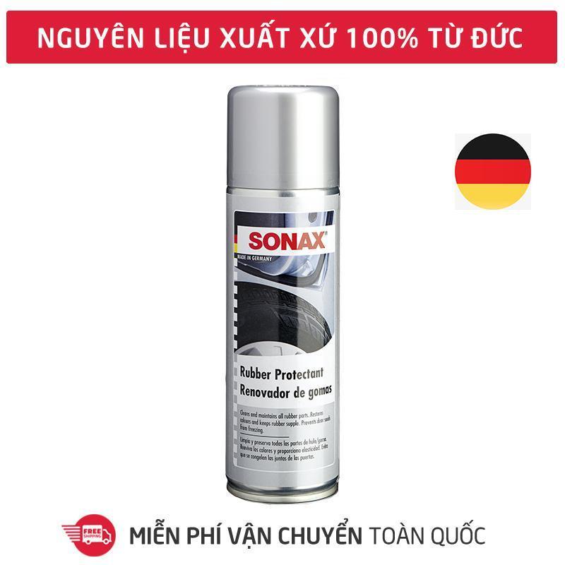 Sonax Rubber Protectant,Dung dịch bảo dưỡng dây viền gioăng cao su, bình xịt tạo bọt vệ sinh làm sạch bề mặt cao su, gioăng cánh cửa, ron cửa, lốp xe-SN-340200