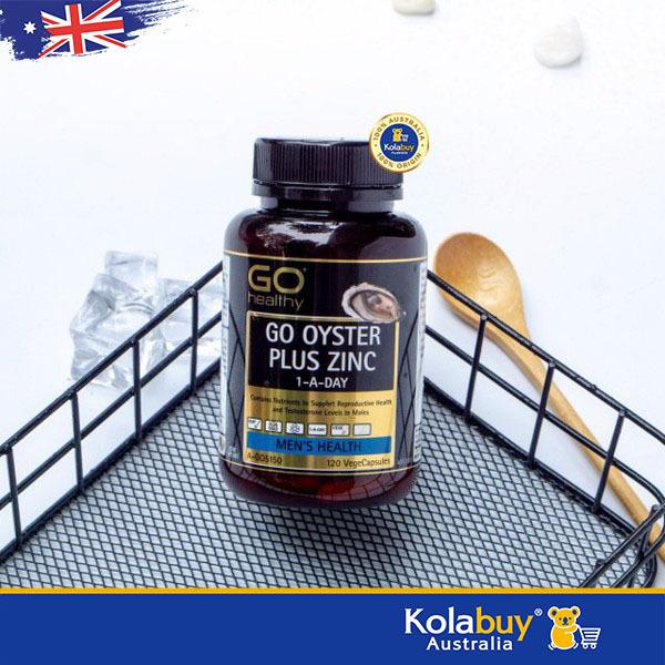 Viên uống Tinh chất Hàu của Úc GO Healthy Oyster Plus Zinc 1-A-Day 120 Viên