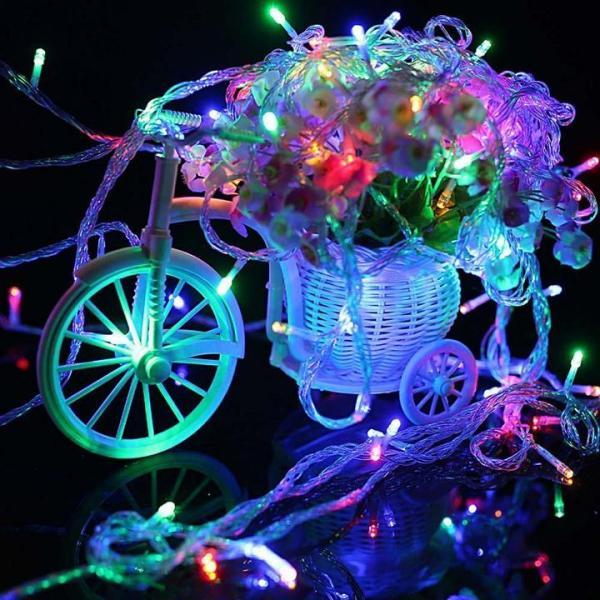 Dây Đèn Led  Dài 5m Trang Trí Noel, Ngày Lễ Chớp Nhiều Màu