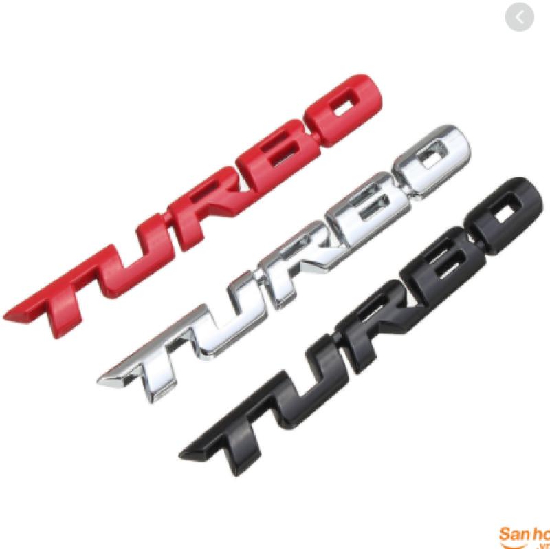 Tem Chữ Nổi 3D TURBO Kim Loại ( loại kích thước to)