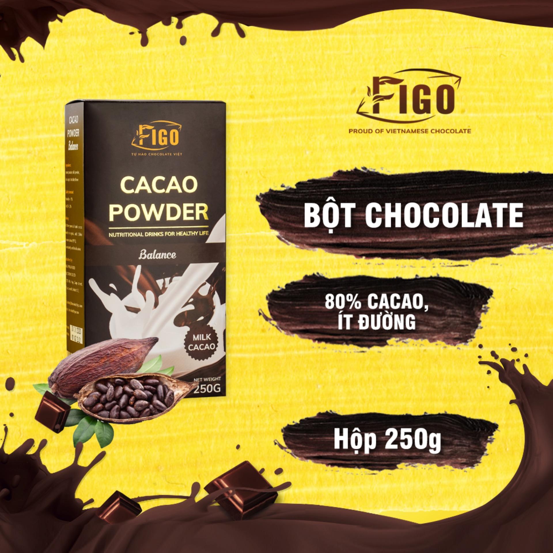 Voucher Khuyến Mãi Bột Sô Cô La Sữa 80% Cacao Pha Uống 80% Cacao Figo 250gram