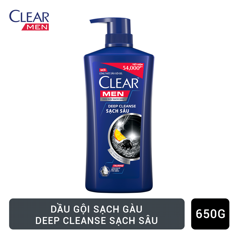 Dầu Gội Clear Men Sạch Sâu (650g)