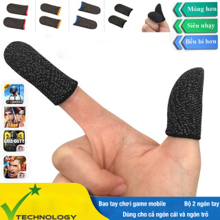 Bộ 2 Găng Tay Cảm Ứng Chơi Game Điện Thoại Chống Mồ Hôi, Chống Trượt Gear Chuyên Game Mobile - Hàng Nhập Khẩu thumbnail