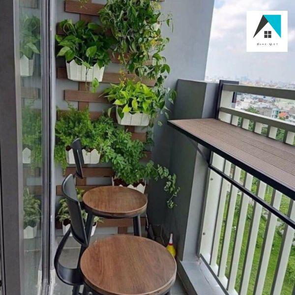 [HCM]Bàn treo ban công mặt gỗ composite- HOME VIỆT
