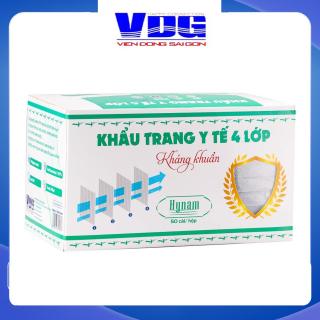 Khẩu trang y tế 4 lớp Hynam - Giấy lọc kháng khuẩn - (50 cái hộp) - Màu xám thumbnail