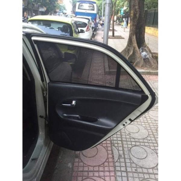 Chan nang Kia Morning 2012-2013-2014-2015-2016 Bộ 4 tấm Rèm chắn nắng cửa xe ô tô chất liệu Vải lưới có Nam châm