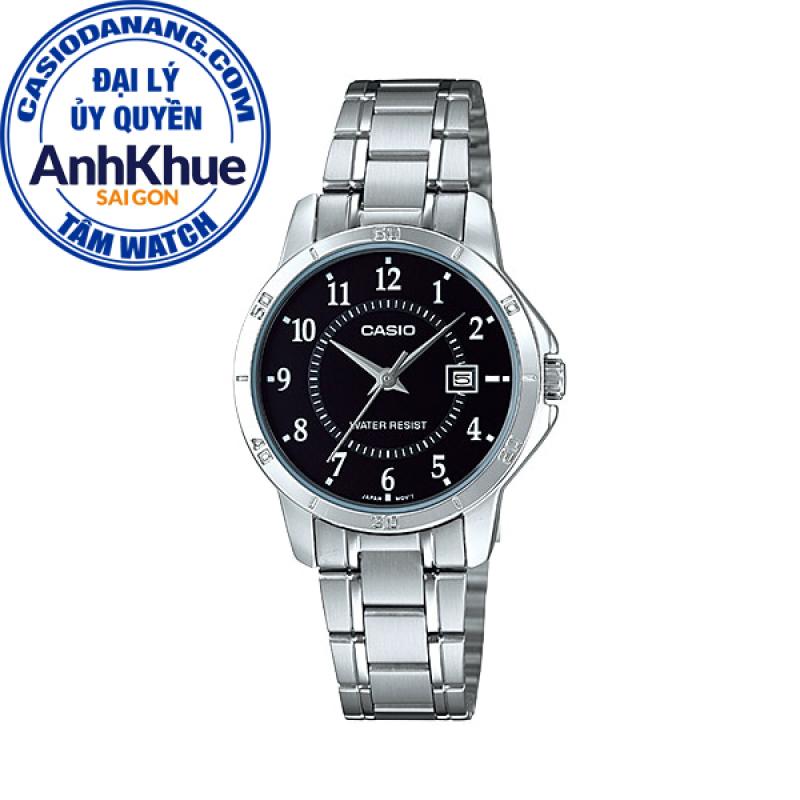 Đồng hồ nữ dây kim loại Casio Standard chính hãng Anh Khuê LTP-V004D-1BUDF (30mm)