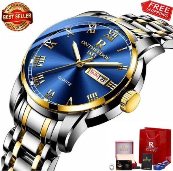Nơi bán Đồng hồ Ontheedge nam dây thép không gỉ RZY031 (fullbox)