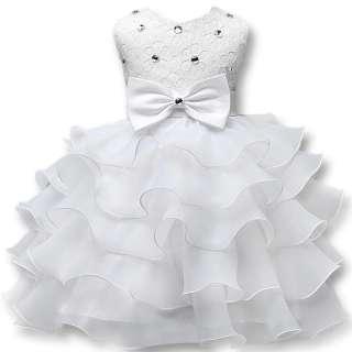 Váy Công Chúa Nơ Bướm Hoa Bé Gái Váy Cho Năm Mới Quần Áo Dự Tiệc Không Tay Nơ Lớn Váy Cưới Công Chúa