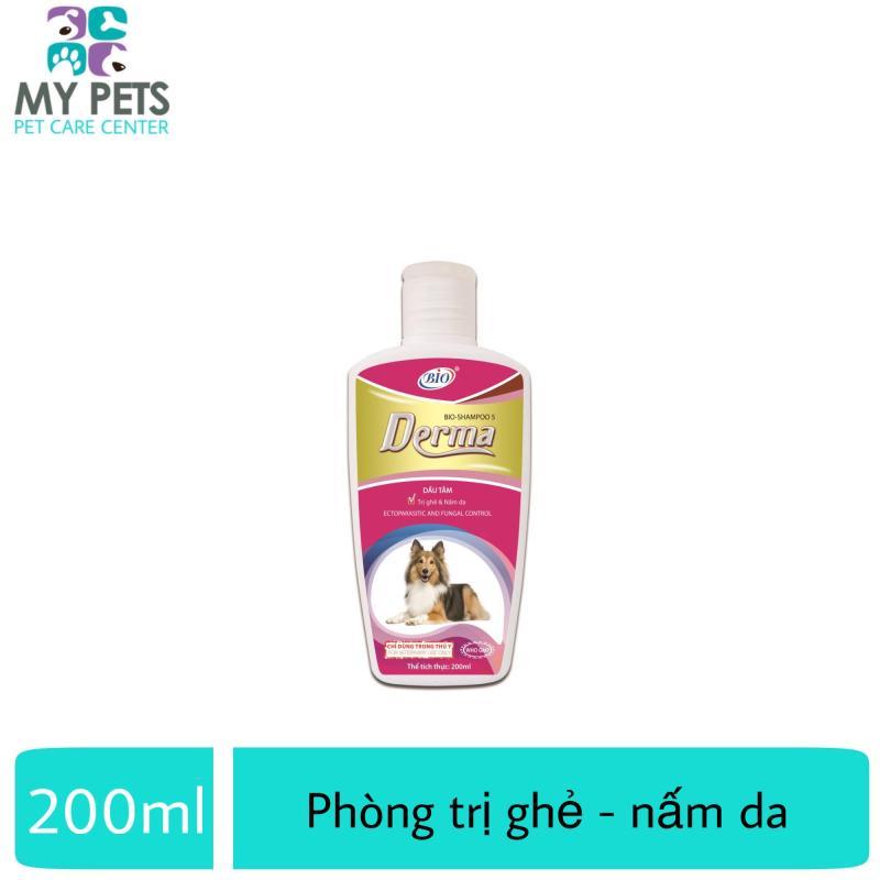 Sữa tắm diệt ve ghẻ, nấm da cho chó mèo - Bio Derma 200ml