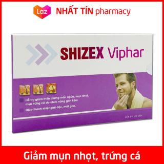 Viên uống SHIZEX VIPHAR giảm mẩn ngứa, mụn nhọt, mụn trứng cá do gan kém - Hộp 30 viên thumbnail