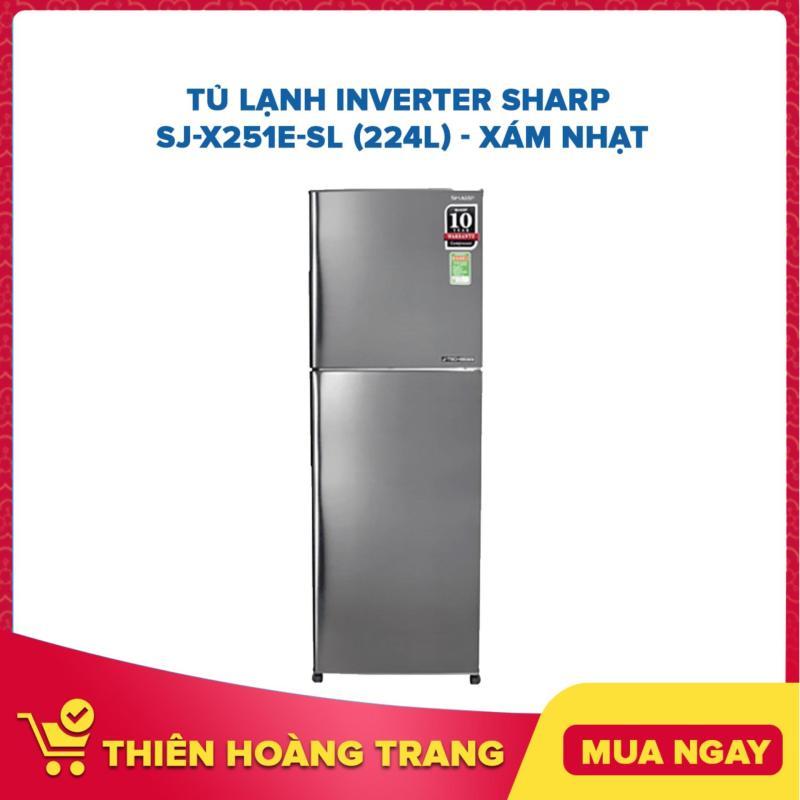 Tủ Lạnh Inverter Sharp SJ-X251E-SL (224L) - Xám Nhạt