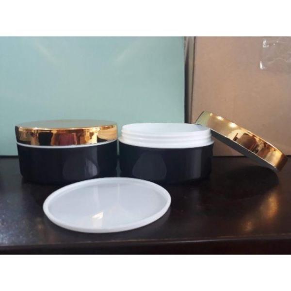 Hủ Đựng Kem Body Cao Cấp 200G Thân Đen Nắp Vàng nhập khẩu
