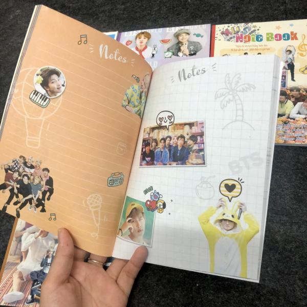 Mua Notebook BTS in hình từng trang