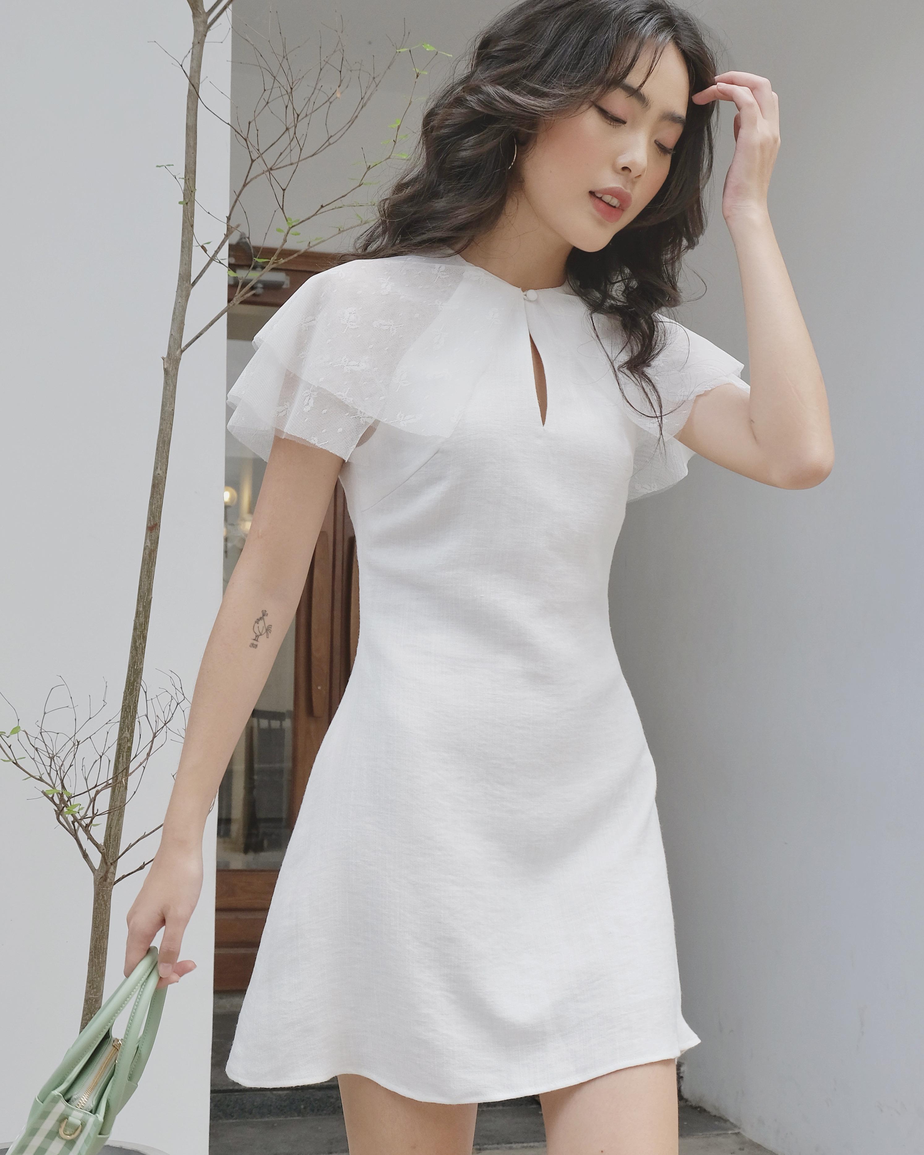 Siêu Tiết Kiệm Khi Mua Đầm Nữ Phối Tay Ren Linen Lilya