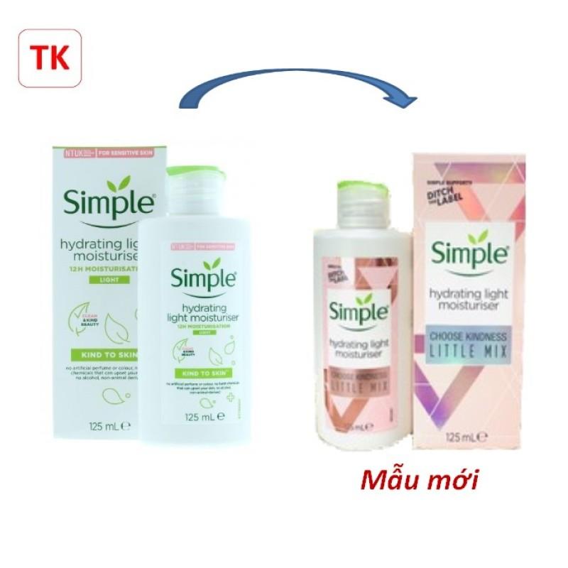 (Chính hãng) Kem Dưỡng Da Simple x Little Mix Hydrating Light Moisturiser 125ml- mẫu mới 2021 giá rẻ