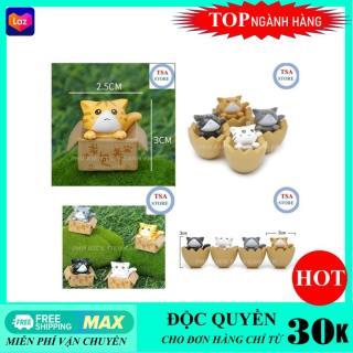 Phụ kiện tiểu cảnh Mèo trang trí tiểu cảnh chậu cây mini terrarium hồ cá bonsai hòn non bộ sen đá xương rồng thumbnail