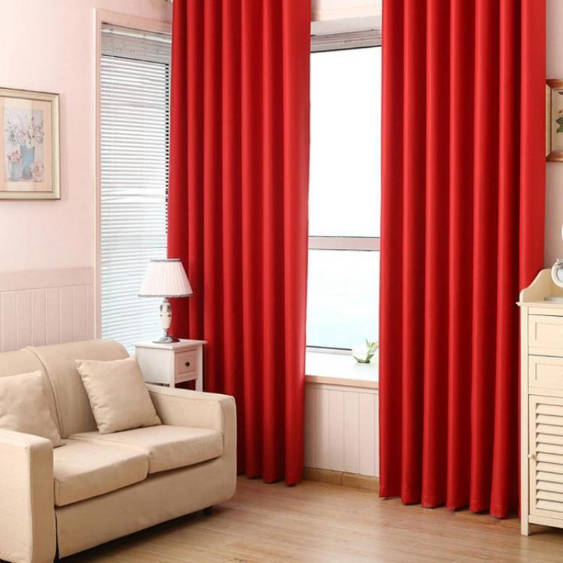 KL Pure Color Blackout Cloth Insulated Curtain