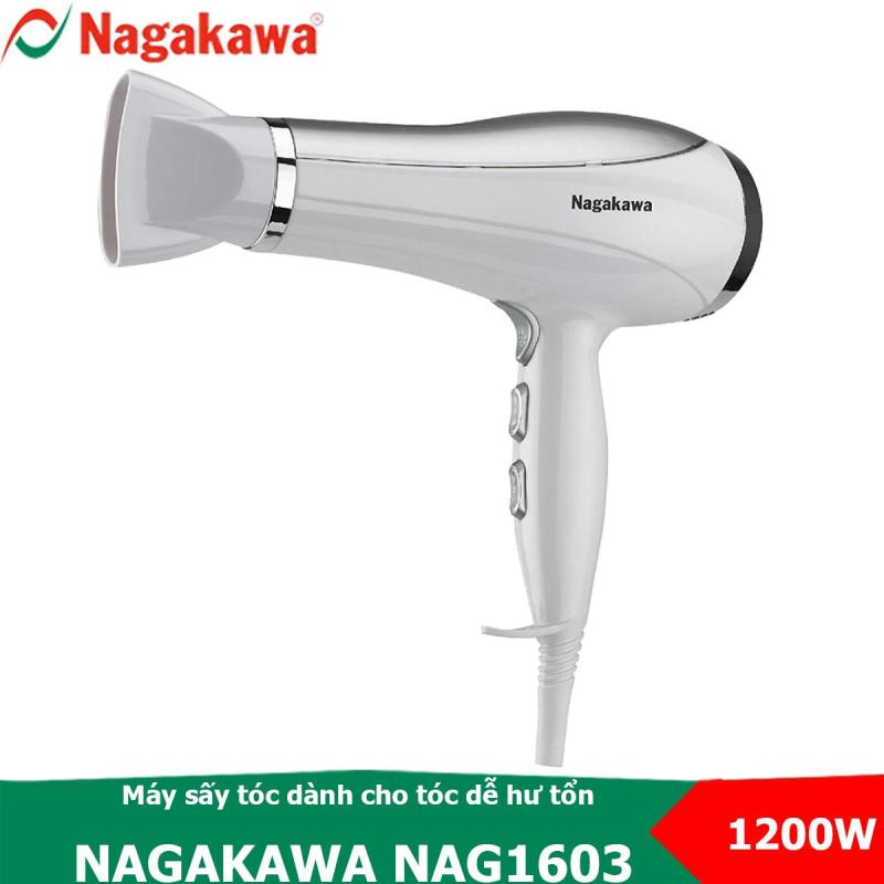 Máy sấy tóc 3 tốc độ, 1200W Nagakawa NAG1603 có chế độ sấy mát dành cho tóc dễ hư tổn