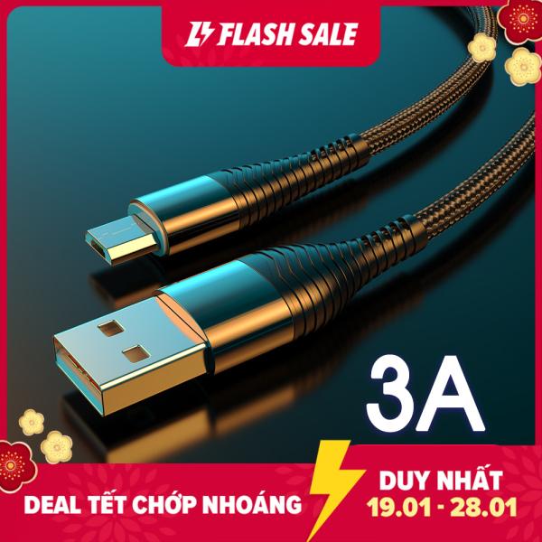 Cáp Micro USB YKZ 3A Dây Sạc Nhanh Cho Điện Thoại Di Động Android Dây Sạc Nhanh Micro USB Cho Samsung Huawei Xiaomi Vivo Oppo