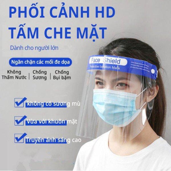 Tấm chắn chống giọt bắn trong suốt nhựa PVC - Kính chắn phòng dịch - Mặt nạ chống nước bọt - Tấm chắn chống virus - Mặt nạ phòng dịch BH889
