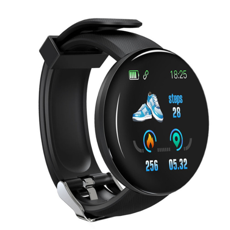 Smart Bracelet D18 round screen smart bracelet heart rate sleep monitoring exercise step counter call message reminder watch