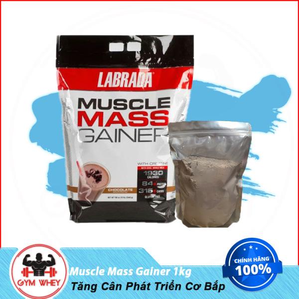 [HCM]Gói Dùng Thử Sữa Dinh Dưỡng Tăng Cân Cho Người Gầy Labrada Muscle Mass Gainer 1kg cao cấp