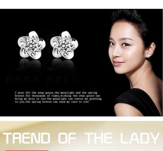 Bông Tai Nữ Bông Hoa Mai Đính Đá Lấp Lánh Xinh Xắn (Bạc)-BT336 -Qmart tốt nhất
