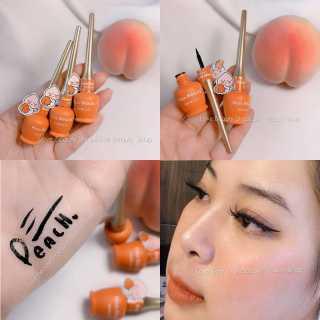 Lọ Kẻ Mắt TRÁI ĐÀO KISSBEAUTY 57492 eyeliner chống nước lâu trôi thanh mãnh dễ dùng nội địa chính hãng sỉ rẻ thumbnail