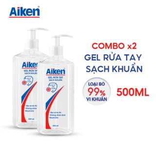 [FREESHIP 100% HCM] Combo 2 Gel rửa tay Sạch khuẩn Aiken 500ml chai Dạng vòi thumbnail