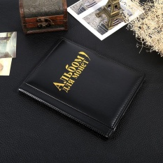 Hình ảnh 1 PC 10 Pages 250 Pokets Units Coin Album Collection Book Holders Russian Language (Black) - intl