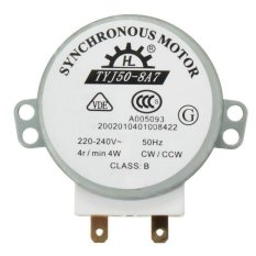 1 PC New AC 220V-240V 50Hz CW/CCW Microwave Turntable Turn Table Synchronous Motor TYJ50-8A7 D Shaft 4 RPM - intl