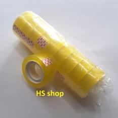 Mua 10 Cuộn băng dính(Băng keo) trong loại đường kính 6cm, bản rộng 1,8cm, dùng cho văn phòng -NPP HS shop