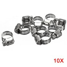 Hình ảnh 10 Pcs 304 Stainless Steel Hose Pipe Clips Clamps - intl
