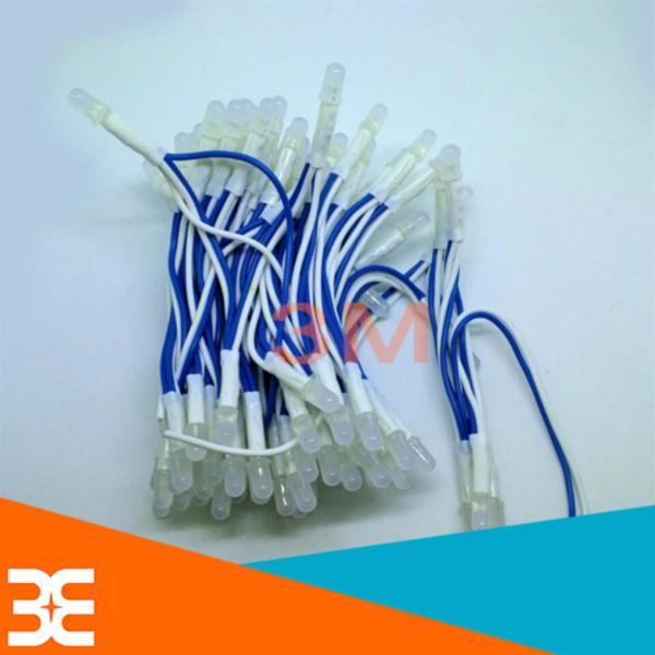 Bộ 100 bóng led liền dây 5VDC phi 5 sáng xanh dương siêu đẹp ( Cuộn dài 6m )
