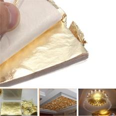 Mua 1000 Giả Vàng Viền Vàng Lá tấm Đồng Lá Tấm Chuyển Lá Sheet 16x16 cm giao hàng miễn phí- quốc tế