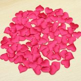 100pcs Padded Satin Heart Wedding Table Scatters Applique Craft Scrapbooking Decor rose 35mm