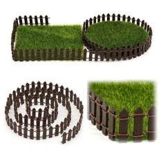 100x5cm Lawn Potting Miniature Wood Fence Garden Décor DIY Ornaments - intl