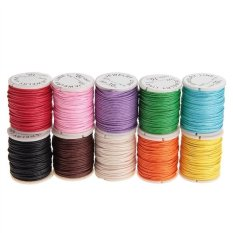 Mua 10pcs 10M 1MM Waxed Cotton Cords Strings Ropes for DIY Necklace Bracelet Craft Making (Random Color) - Intl