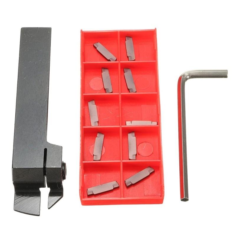 10 cái 2.0 mét Carbide Miếng + MGEHR1616-2 Chia Tay Tắt Tiện Dụng Cụ Xoay Giá Đỡ-quốc tế