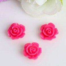 Hình ảnh 10pcs Mix Resin Rose Flower flatback Appliques For DIY phone/wedding/craft Nice Rose - intl